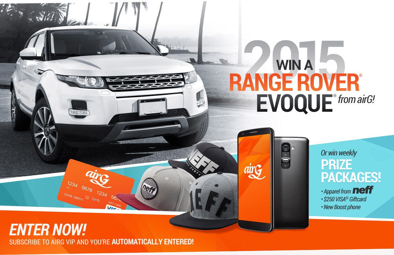 Win a 2015 Range Rover® Evoque® from airG!